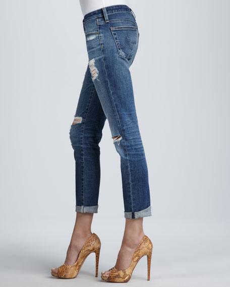 Stilt Thrasher Distressed Cuffed Jeans