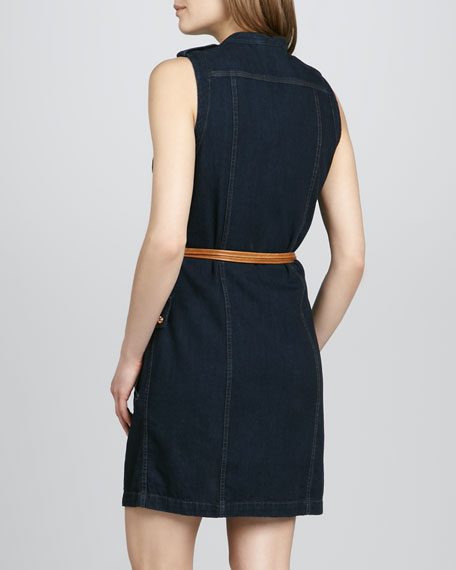 Belted Denim Shirtdress