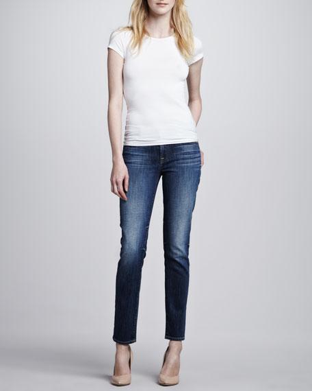Bright Blue Slim Cigarette Jeans