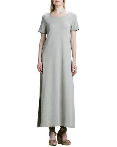 Long Cotton A-line Dress, Petite