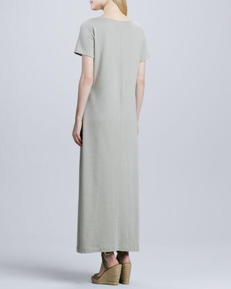 Long Cotton A-line Dress, Women's