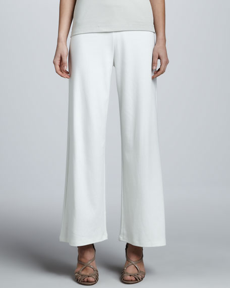 Casual Wide-Leg Interlock Pants