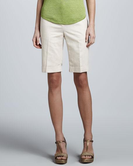 Linen Cuffed Shorts