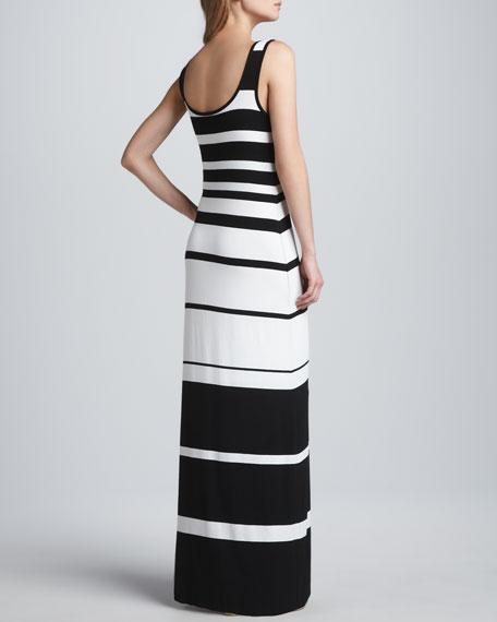 Co-Driver Striped Maxi Dress