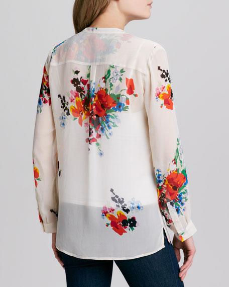 Devitri Floral V-Neck Top