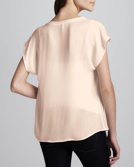 Suela Gathered-Shoulder Blouse