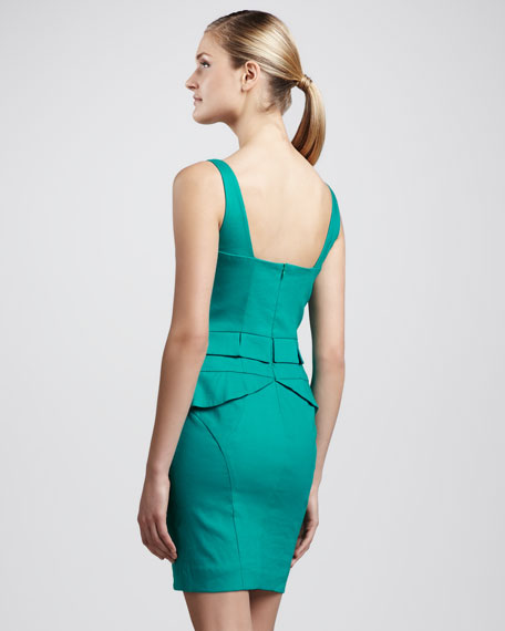Square-Neck Peplum Dress