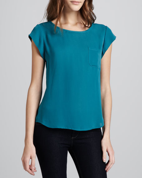 Rancher Matte Silk Top, Gem