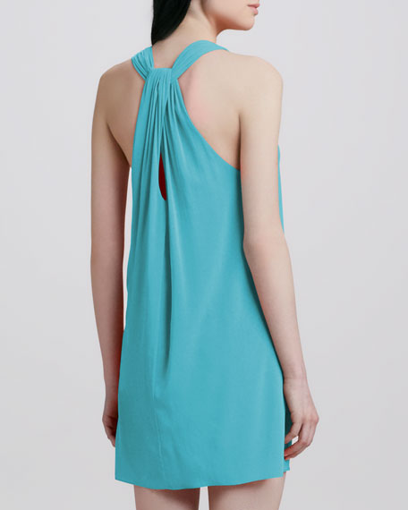 Liz Twist-Back Tunic Dress