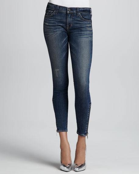 Davis Lovesick Zip-Ankle Jeans