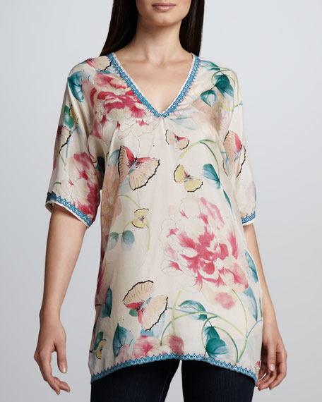 Multi-Print Silk Georgette Top