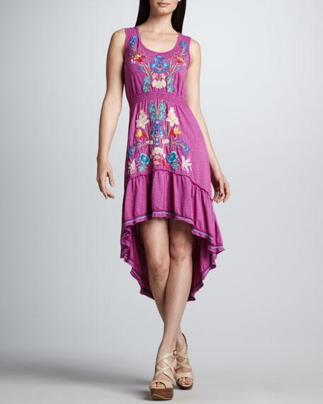 Hi-Low Flounce Dress