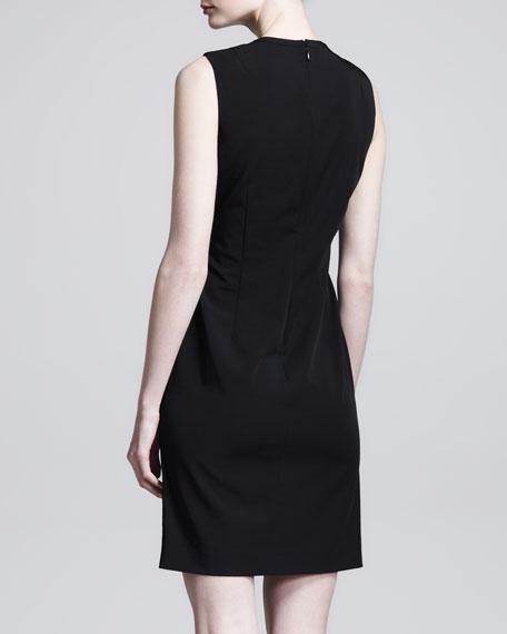 Lace-Front Shift Dress