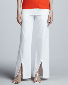 Lisa Todd Slit-Front Drawstring Pants