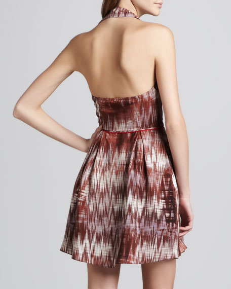 Molly Printed Halter Dress