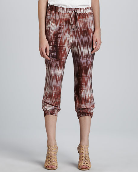 Ruben Cropped Print Pants