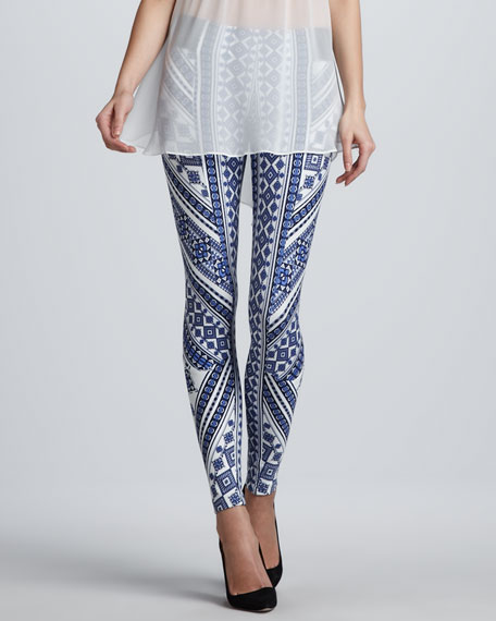 Printed Ponte Knit Leggings