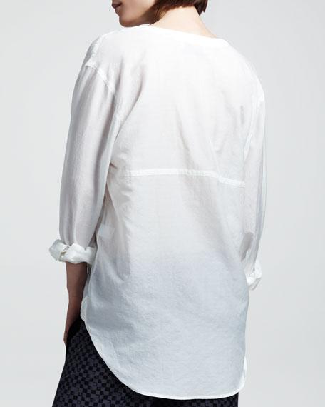 Georgie Cotton-Silk Shirt