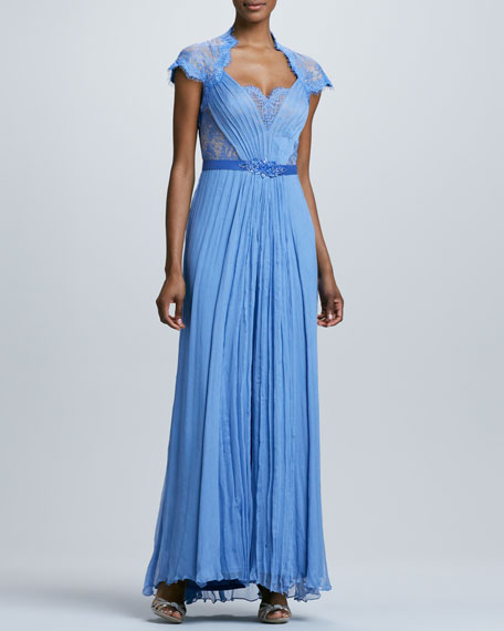 Lace Sweetheart Neckline Gown
