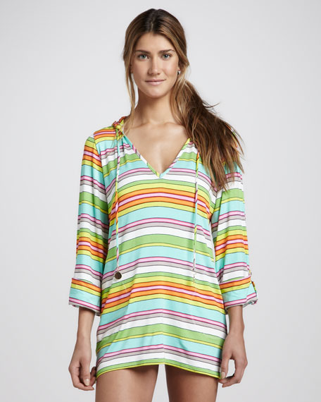 Tennis Anyone? Hooded Tunic Coverup