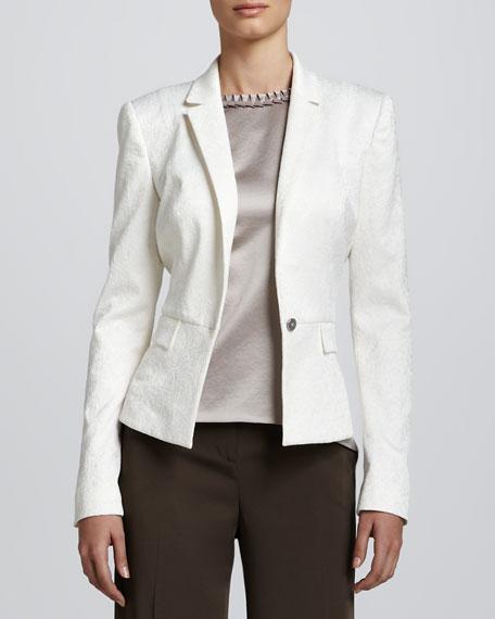 Lyla Textured One-Button Jacket