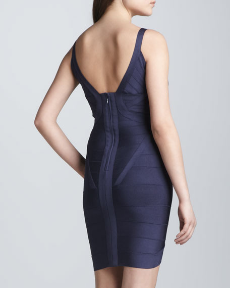 Plunging V-Neck Bandage Dress