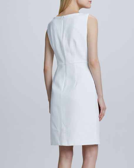 Pique Cap-Sleeve Dress