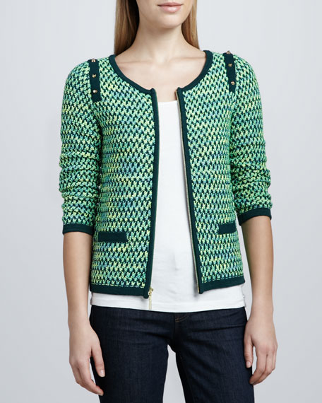 Textured Zip-Front Jacket