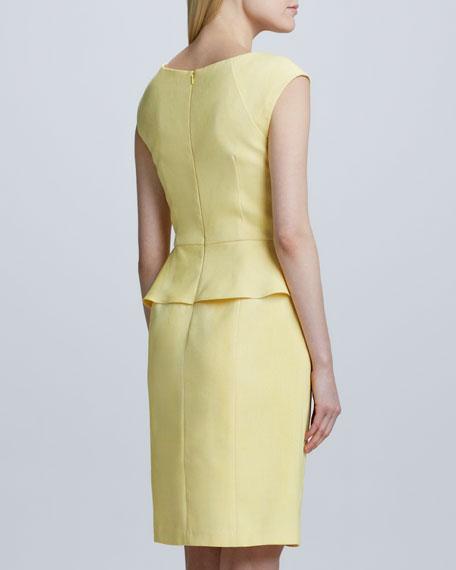 Textured Peplum Dress