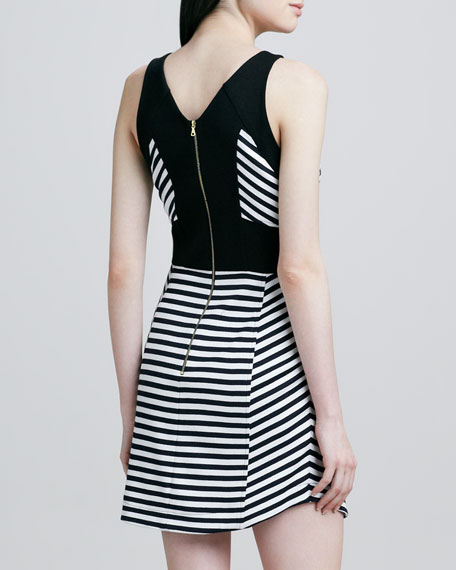 Halter Striped Dress