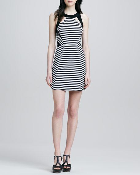 Ali Ro Halter Striped Dress