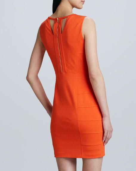 Sleeveless Cutout-Back Ponte Dress
