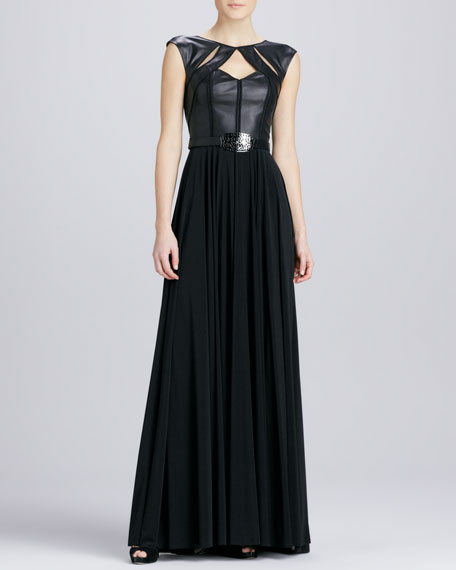 Leather Bustier Gown
