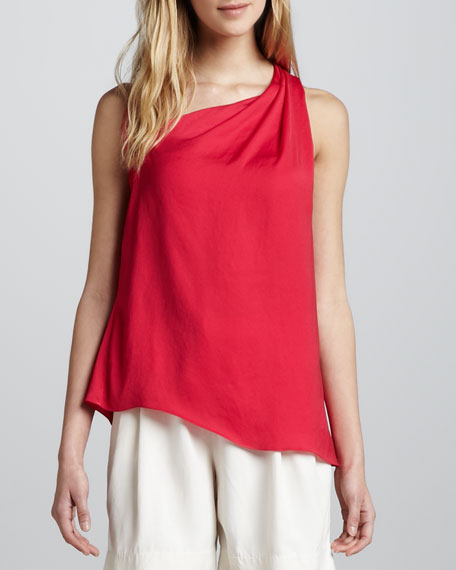 Draped Asymmetric Racerback Top