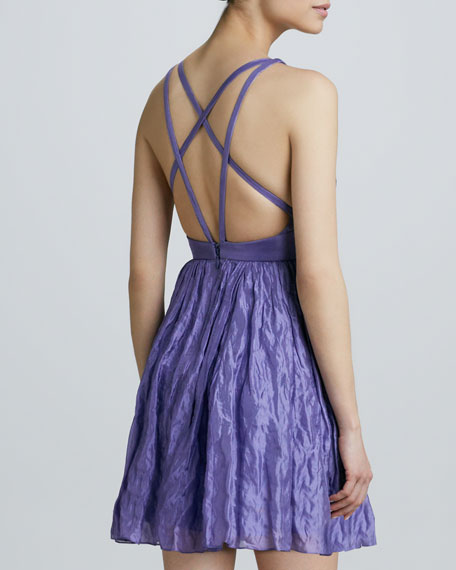 Sleeveless Strappy-Back Cocktail Dress