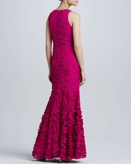 V-Neck Petal Gown