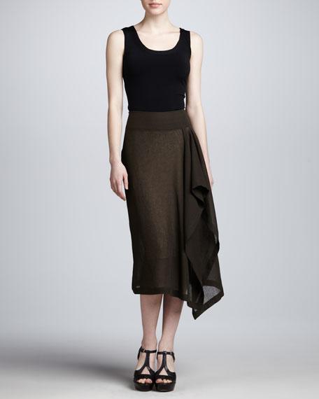 Linen Sarong Skirt, Teak
