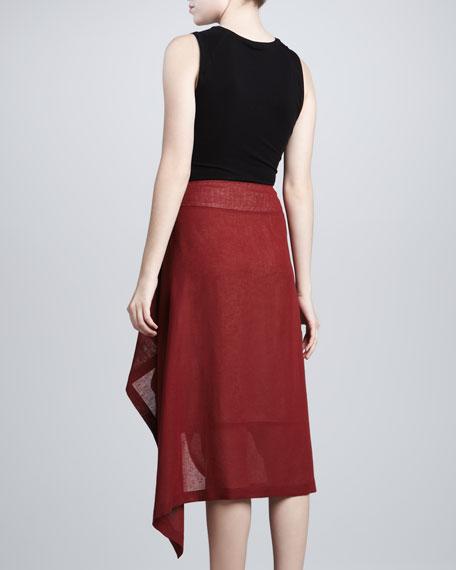 Linen Sarong Skirt, Cinnabar