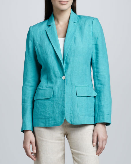 One-Pocket Linen Blazer