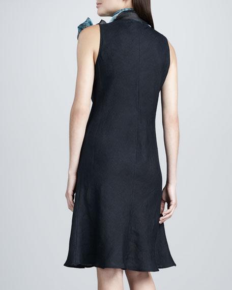 Linen Dress & Scarf Set