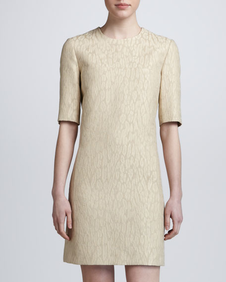 Animal-Print Half-Sleeve Dress