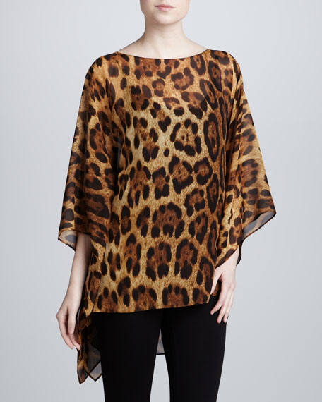 Leopard-Print Bateau Tunic