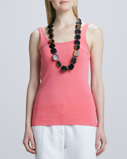 Eileen Fisher Organic-Cotton Long Tank