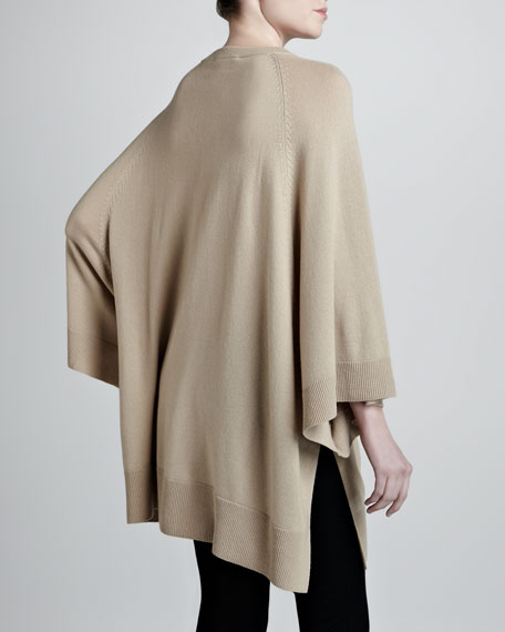 Cashmere Scoop-Neck Poncho