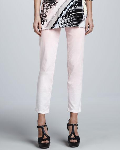 Sandra D. Pastel Ombre Control-Panel Ankle Jeans