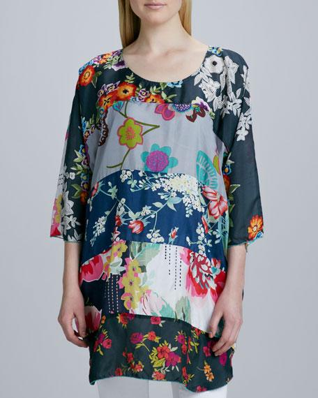 Morning Meadow Silk Tunic, Women's