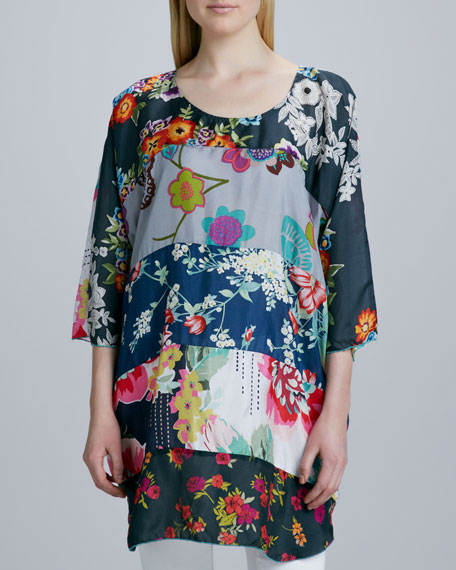 Morning Meadow Silk Tunic