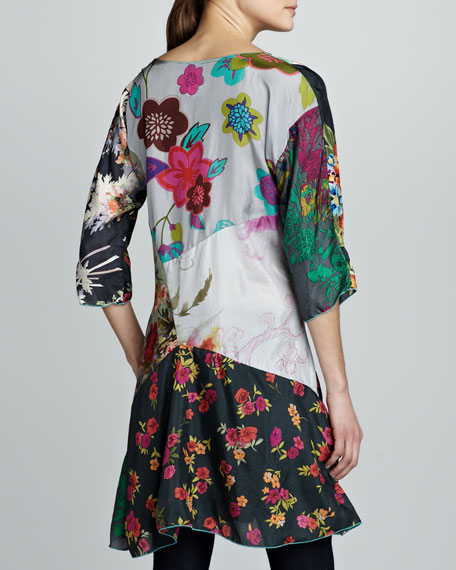 Ditsey Patchwork Silk Tunic