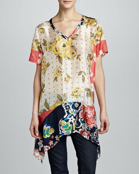 Adisa V-Neck Silk Tunic, Women's
