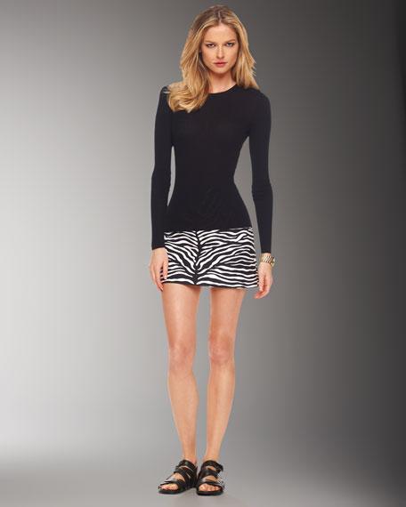 Zebra-Print Mini Skirt